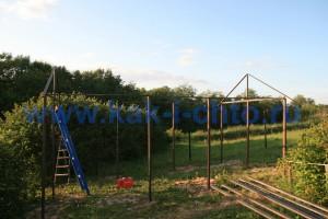 привариваем скаты крыши