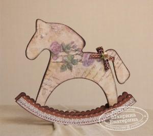 Лошадка для раскраски