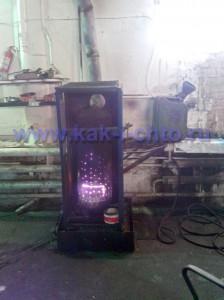 Печка для автосервиса работающая на отработке