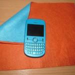 Чехол для мобильного телефона из фетра с улиткой в стиле Тильда