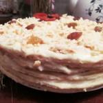 Не сложный творожный торт на сковороде