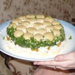 Салат из шампиньонов «Грибная полянка»