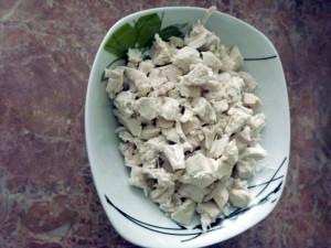 ломтики курицы - Рисовая лапша с курицей и морепродуктами