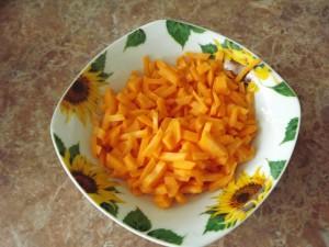 морковь  - Рисовая лапша с курицей и морепродуктами