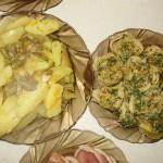 Штрудель с мясным фаршем и картошкой