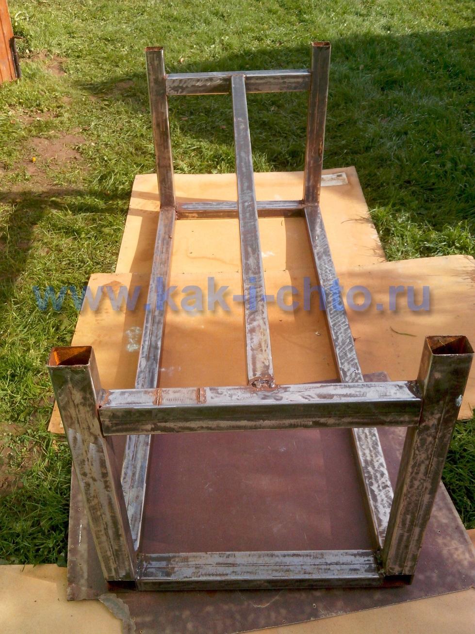 Как сделать стол из металлического профиля своими руками 98