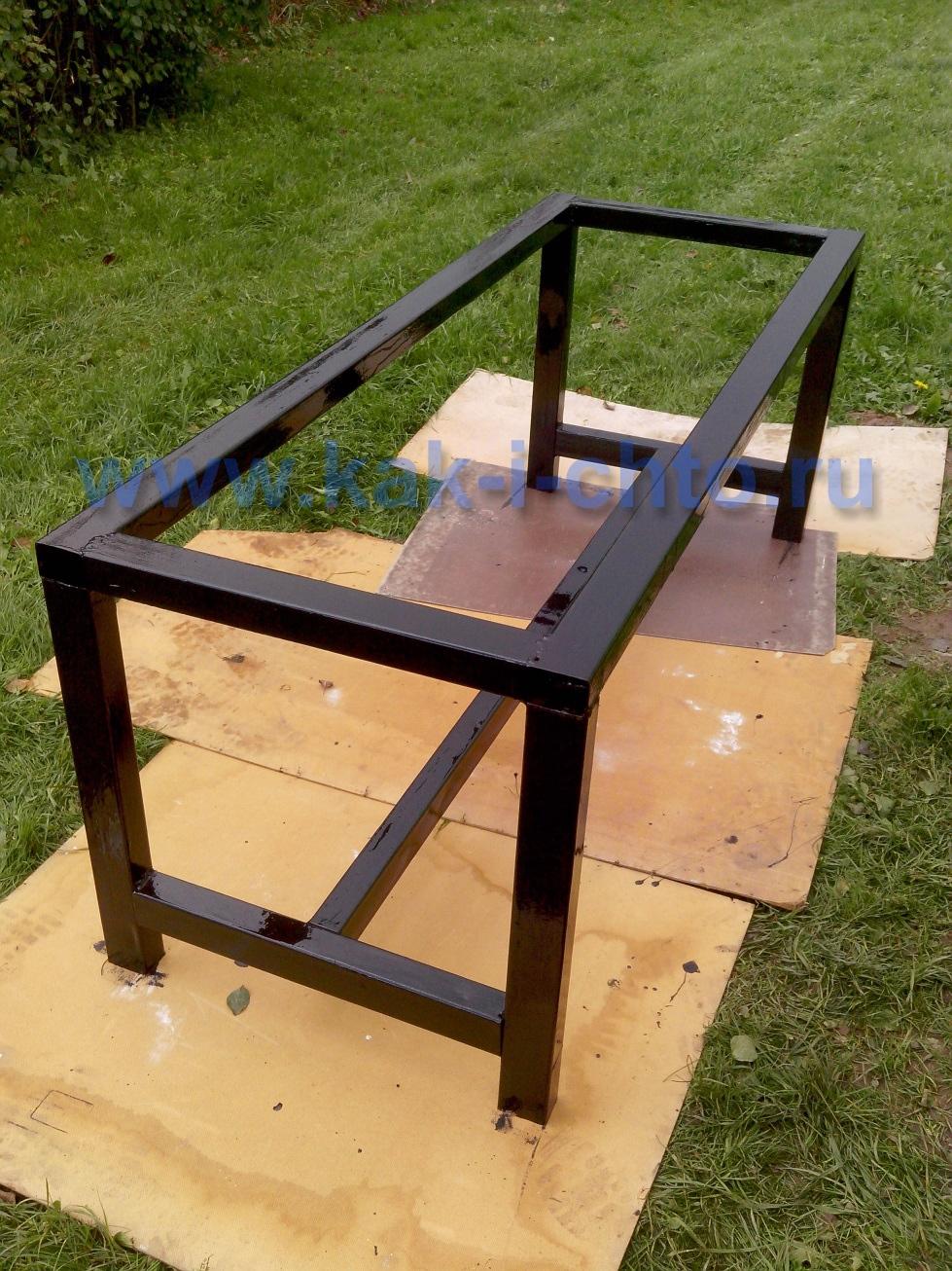 Стол для дачи из профиля своими руками