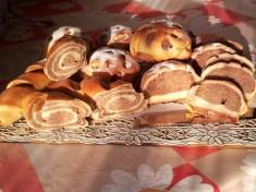 Ванильно-шоколадные булочки с корицей