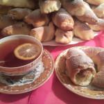 Рогалики с яблочно-ореховой начинкой