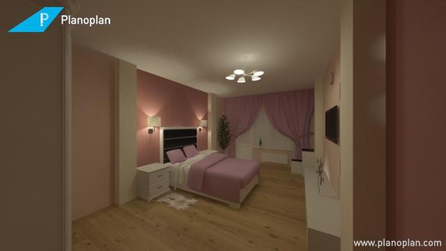 Дизайн спальни вариант 1