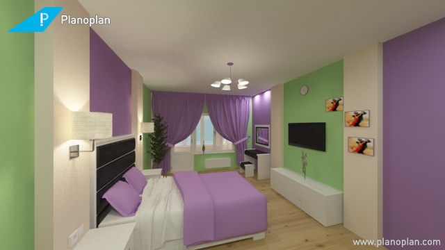 Дизайн спальни вариант 3