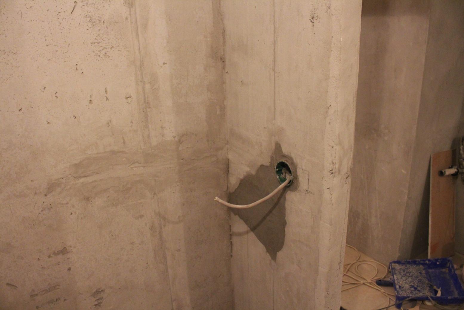 Подрозетники в ванной комнате для стиральной машины