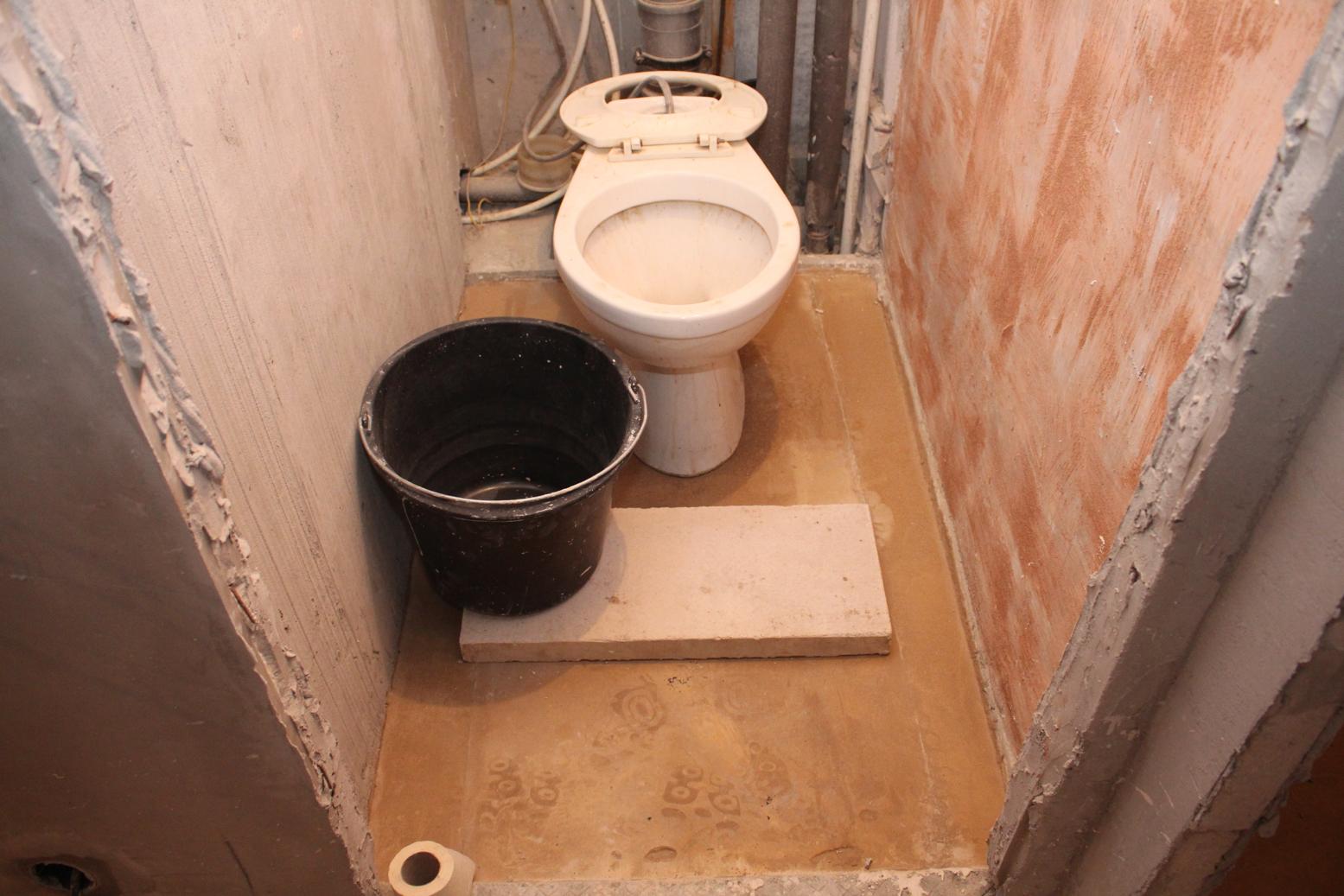 Наливной пол в туалете