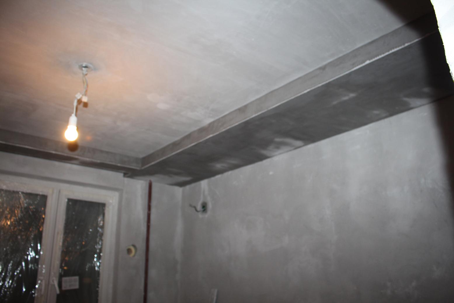 Бортик в потолке из Гипсокартона Потолки из гипсокартона 68