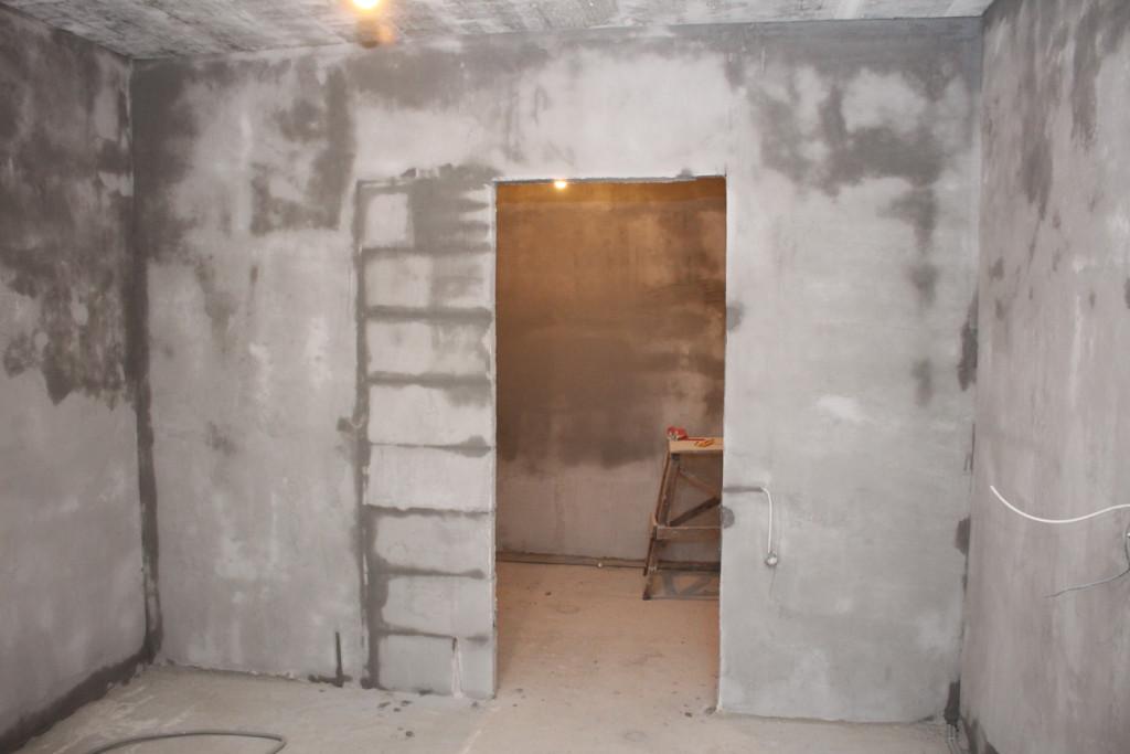 Изменения дверного проема в маленькой комнате П-44Т