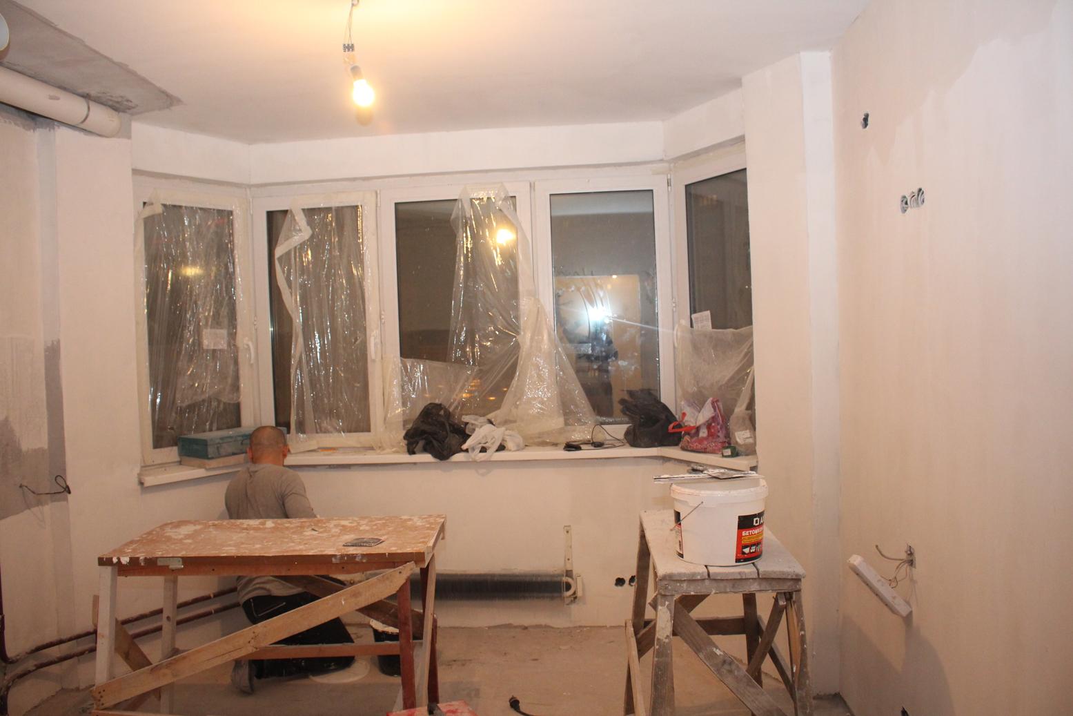 Стены и потолок на кухне