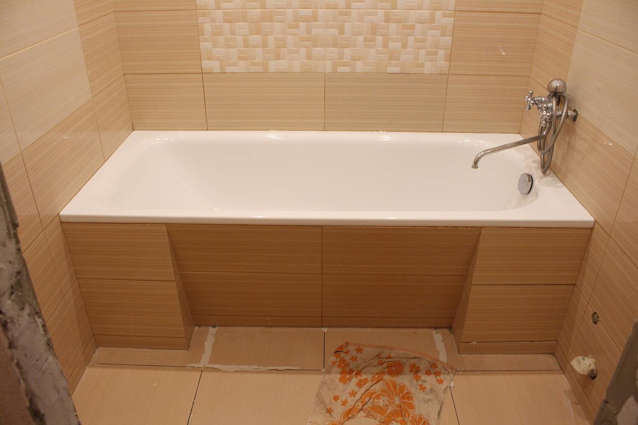 фартук для ванной из плитки