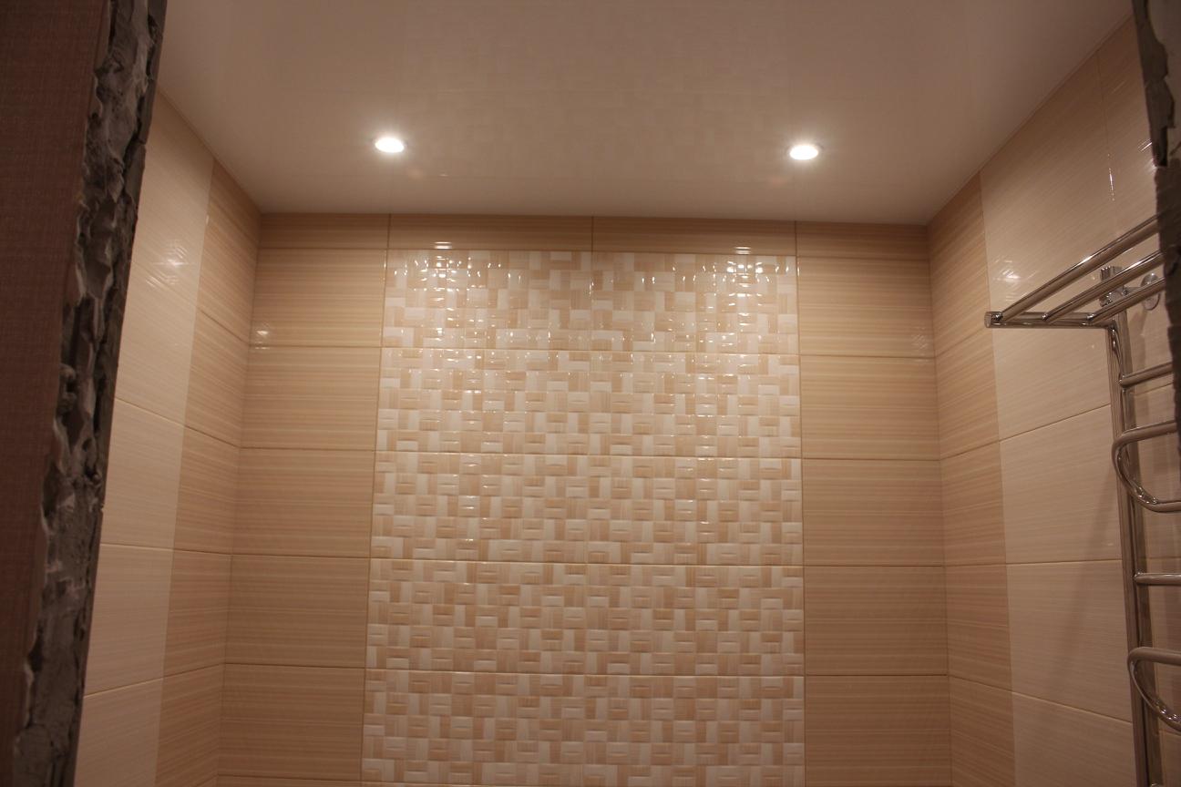 натяжной потолок в ванной П-44Т