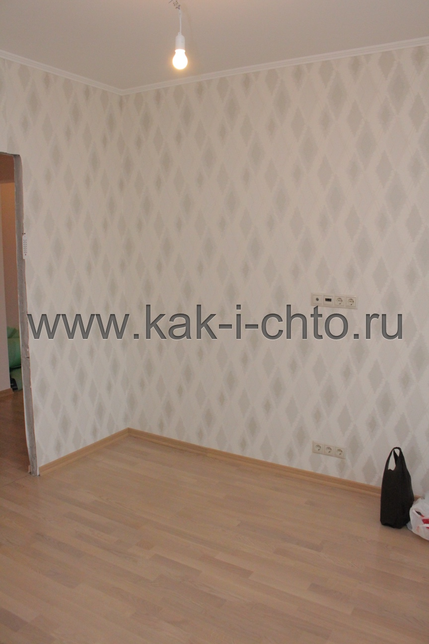 Готовый ремонт в маленькой комнате (гостиной) в П-44Т