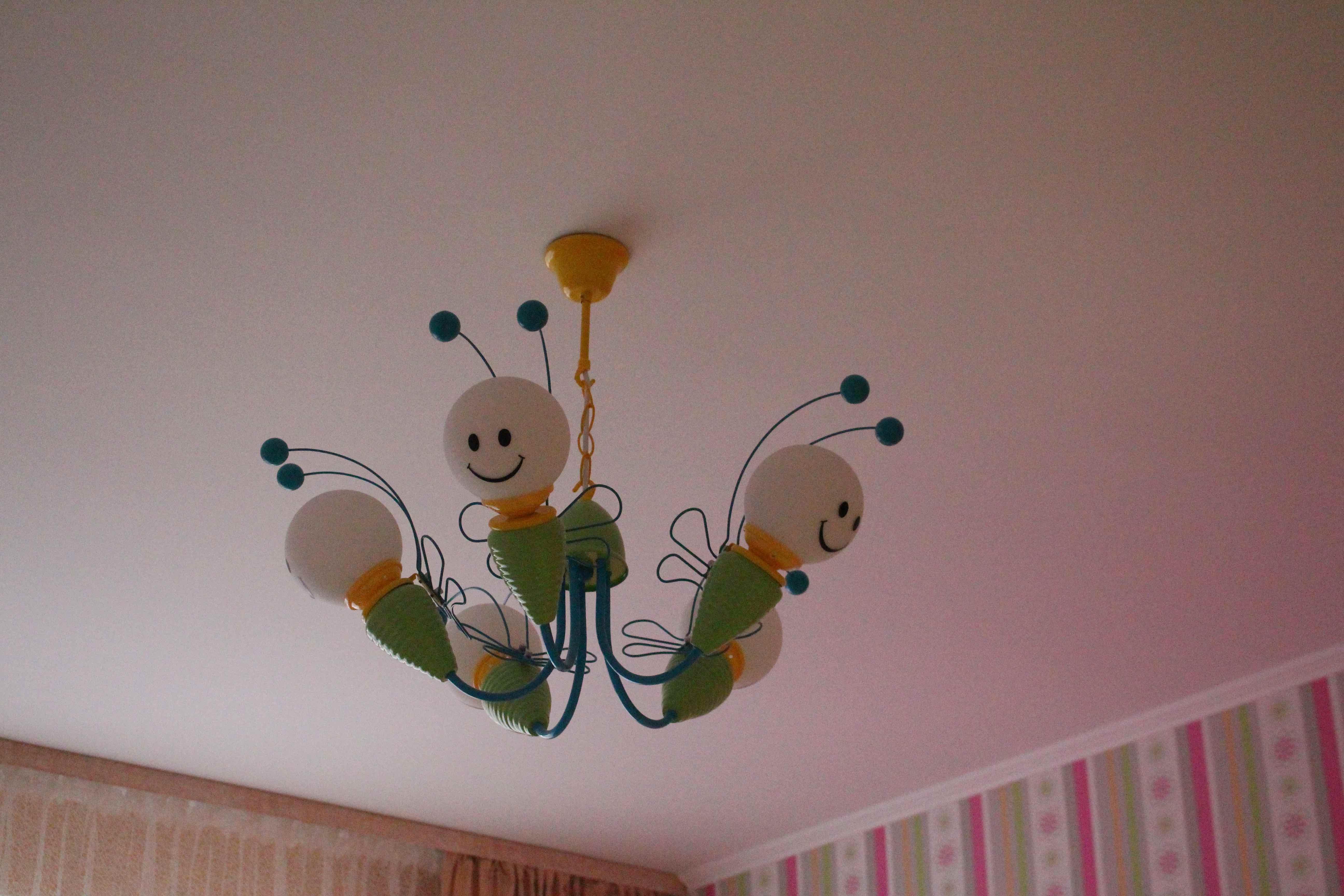 Подвесная люстра в детскую ODEON LIGHT TROLO 2633/5 - веселые пчелки
