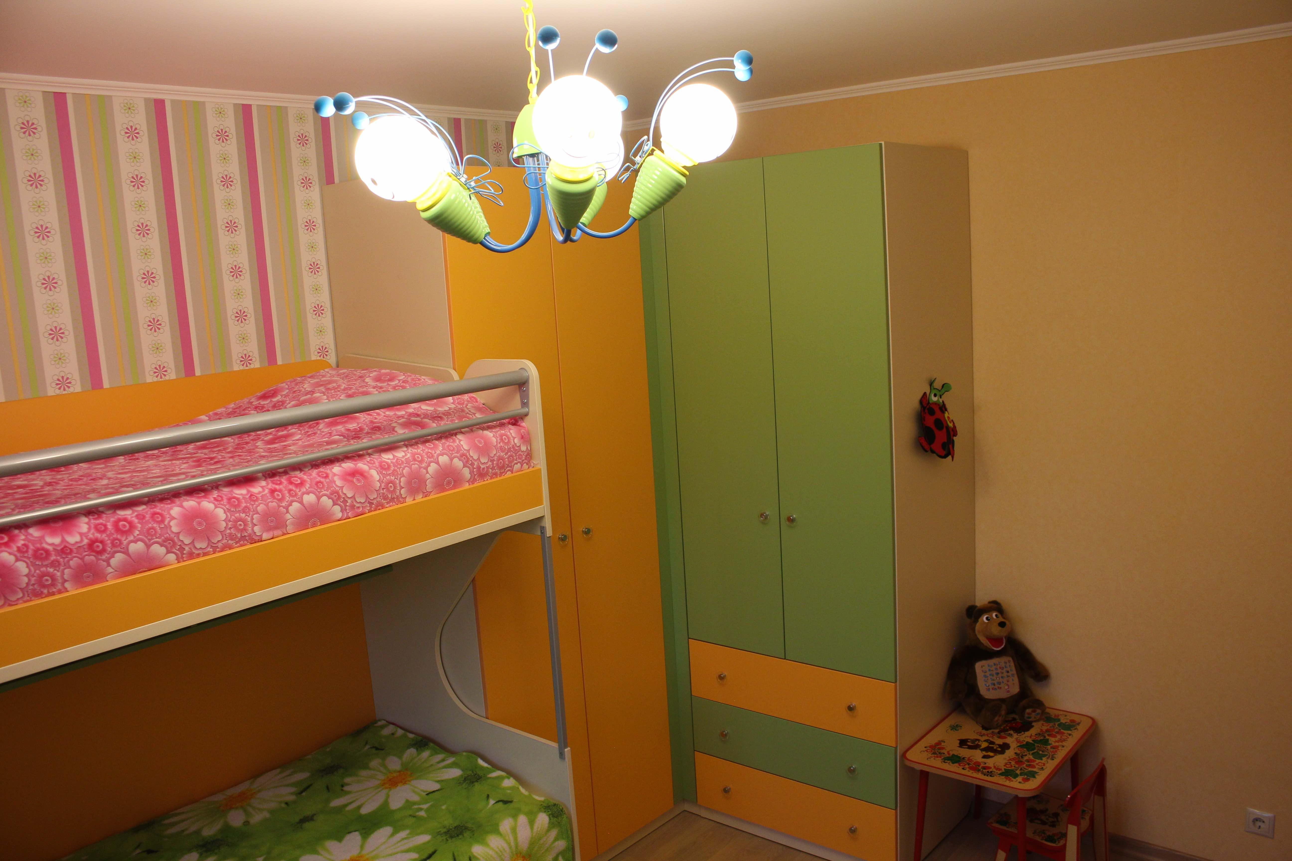 Детская мебель в интерьере - серия Силуэт Софтформ -угловые шкафы